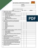 2016 Brigada Eskwela Monitoring Checklist