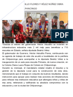 22-07-2017 Inauguran Astudillo Flores y Vélez Núñez Obra Educativa en Chilpancingo.