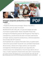23-07-2017 Entregan Proyector Productivos en Buenavista de Cuéllar.