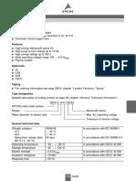Varistor Data Sheet