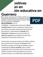 24-07-2017 Cifras Positivas Continúan en Evaluación Educativa en Guerrero.