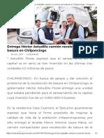 25-07-2017 Entrega Héctor Astudillo Camión Recolector de Basura en Chilpancingo.