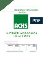 Modelo de Plan de Emergencia Achs