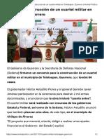 27-07-2017 Anuncian Construcción de Un Cuartel Militar en Teloloapan, Guerrero.