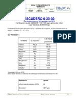 Hoja Técnica Escudero 0-20-30