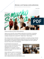 18/06/2018 Llama Sylvana Beltrones a unir fuerzas contra adicciones