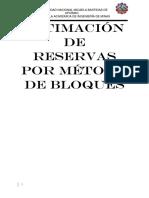 Estimación de Reservas Por Metodo de Bloques