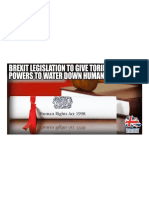 The Tories Are Securing Sweeping Powers to Water Down Human Rights & Equalities Laws via Brexit Legislation