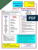 Second Grade Newsletter