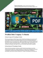 Prediksi Bola Uruguay vs Russia 25 Juni 2018