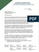 VA Response to Senator Heller