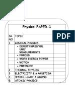 Igcse Physics p1 Mcq Seh