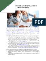 Definición de Administración y Organización