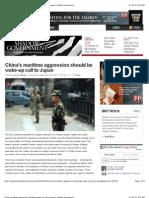 China's Maritime Aggression Should Be Wake-up Call to Japan