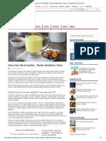 Como Fazer Chá de Açafrão - Receita, Benefícios e Dicas - MundoBoaForma.com.Br