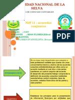 NIFF11 acuerdos conjuntos