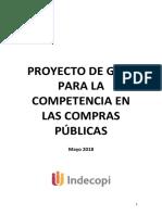 Proyecto de Guía para la Competencia en las Compras Públicas