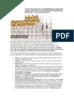 Nueva Estructura Del Informe de Auditoria Segun Ifrs