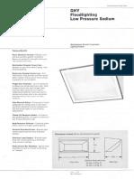 Westinghouse Lighting GHY Series Low Pressure Sodium Floodlight Spec Sheet 6-79