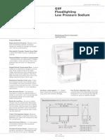 Westinghouse Lighting GVF Series Low Pressure Sodium Floodlight Spec Sheet 6-79