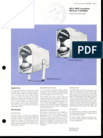 Westinghouse Lighting MLS-1000 Sealed Optics Mercury Floodlight Spec Sheet 11-69