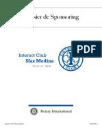 Interact Club Sfax Medina - Sponsoring forms