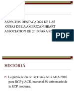 Aspectos Destacados de Las Guias de La American Heart Association