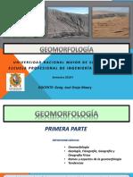 GEOMORFOLOGÍA IG 2018-I- 1°-1