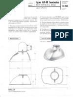 Westinghouse Lighting AD-10 Reflector Incandescent Roadway Spec Sheet 10-57