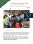 Flor Ayala escucha demandas de los habitantes de San Francisco de Batuc Jacinto López y El Zacatón