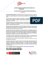 Pormperu Presenta Primer Informe Turismo Reuniones