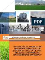 Proceso Productivo de Arroz -Potencial Energetico