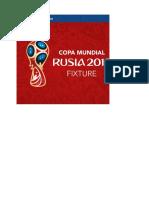 Fixture Mundial RUSIA 2018
