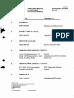 OPERATOR`S INSTRUCTION MAS ERRAZURIZ ST 1030 AVO 07X171 Nº.8997 1032 00