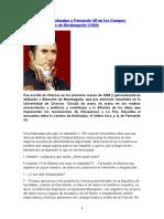 Dialogo Atahualpa y Fernando Vii en Los Campos Eliseos