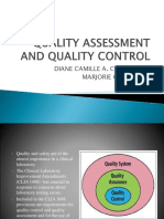 Quality Assessment and Quality Control
