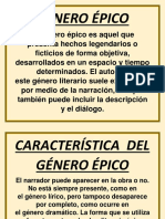 GÉNERO ÉPICO