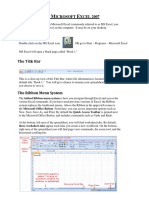 Excel 2007 the Basics