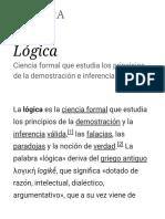 Lógica - Wikipedia, La Enciclopedia Libre