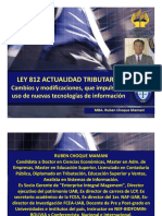 Ley 812 y la actualidad tributaria en Bolivia