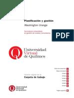 Planificación y gestión Washington Uranga