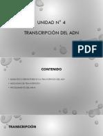 UNIDAD N° 5 transcripción del adn