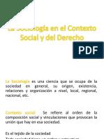 La Sociología en El Contexto Social