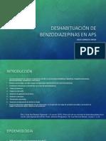 Deshabituación de Benzodiazepinas en Aps