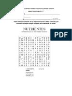 Sopa de Letras Nutrientes