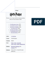 Harry Potter-A Report
