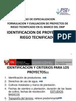 1. Identificacion - Descripcion Sistemas de Riego