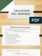 Evaluacion Del Mineral
