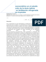 El análisis econométrico en la aplicación de la dosis óptima económica en fertilización nitrogenada.docx