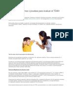 TDAH Instrumentos y Pruebas Para Evaluar